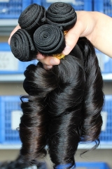 Natural Color Egg Curl Brazilian Virgin Human Hair Weave 4pcs Bundles Of Human Hair