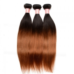 Silk Straight 1B/30 Ombre Color Brazilian Virgin Human Hair Weave 4 Bundles Deals