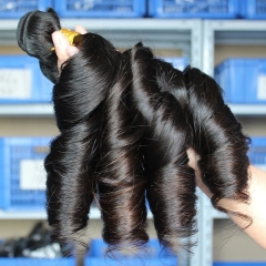 Natural Color Egg Curl Brazilian Human Hair Weave 4pcs Bundles Of Human Hair