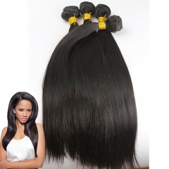 fast shipping 4pcs lot Hair Bundles Brazilian Straight Unprocessed Hair Weft 100g/pc