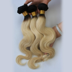 Blonde Brazilian Hair Body Wave 3 Bundle Deals 1BT613 Blonde Virgin Hair Platinum Blonde Virgin Hair Honey Blonde Brazilian Hair