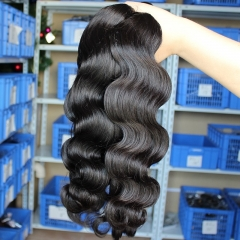 Indian Virgin Human Hair Extensions Weave Body Wave 4 Bundles Natural Color