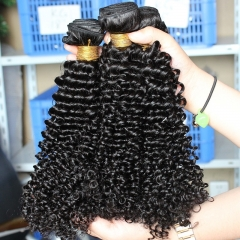 Best Hair Bundle Deals Natural Color Malaysian Virgin Hair Kinky Curly Hair Weave 3 Bundles