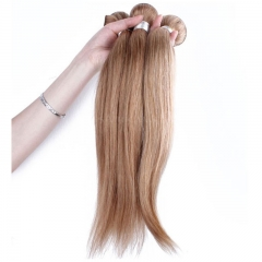 Best Website To Buy Bundle Hair Color #27 Honey Brown Straight Brazilian Virgin Human Hair Weave 3 Buddles