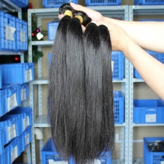 Great Hair Bundle Deals Silk Straight Peruvian Virgin Human Hair Weave 3 Bundles Natural Color