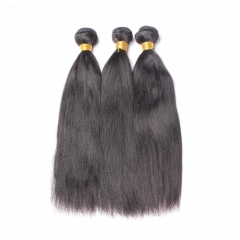 Good Bundle Hair Websites Yaki Straight Hair Weave 3 Bundles Brazilian Human Hair Natural Color