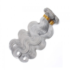 Color Platinum Grey Body Wave Brazilian Virgin Hair Weaves 3pcs Buddles Deals