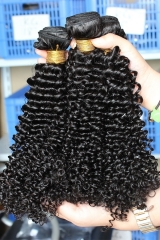 Hair Bundle Deals Cheap Kinky Curly Hair Peruvian Virgin Human Hair Weave 3 Bundles Natural Color
