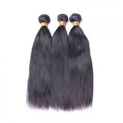Yaki Straight 1 pcs Bundle Brazalian Virgin Hair Straight Hair Extension 100% Human Hair