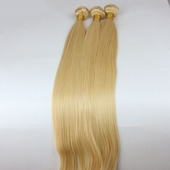Silky Straight 1 pcs Bundle 613# color Brazalian Cheap Virgin Human Hair Bundles