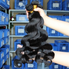 Natural Color Body Wave Indian Remy Human Hair Extensions Weave 3 Bundle Deals