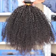 Afro Kinky Curly Brazilian Virgin Hair 1 Pcs Brazilian Hair Weave Bundles 8A Hair Products Curly Human Hair Extensions