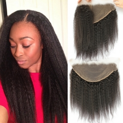 13x6 Lace Frontal With Natural Hairline Kinky Straight Brazilian Virgin Hair Lace Frontal