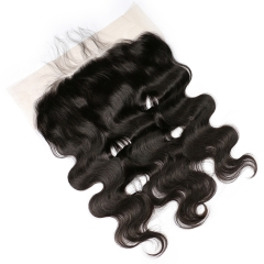 Body Wave 13x6 Ear To Ear Lace Frontal Closure With Baby Hair Pre Plucked Human Hair Brazilian Remy Hair Bleached Knots