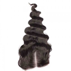 Loose Wave Peruvian Virgin Hair Free Part Lace Closure Sew In 4x4 inchs Natual Color