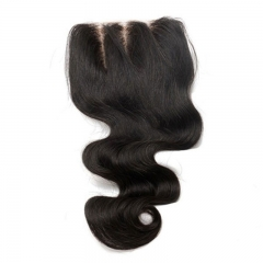 Best Virgin Hair Closures Body Wave  European Virgin Hair Three Part Lace Closure 4x4 inchs Natural Color