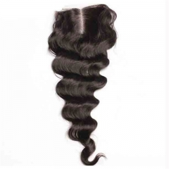 Best Closure Pieces Loose Wave Malaysian Virgin Hair Middle Part Lace Closure 4x4inches Natural Color