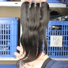 The Best Closures For Weave Malaysian Virgin Hair Silk Straight Three Part Lace Closure 4x4inches Natural Color