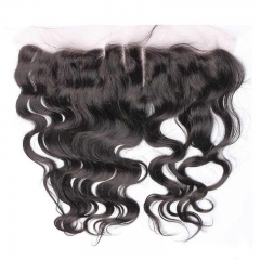 Frontal Piece Weave Body Wave Peruvian Virgin Hair A Lace Frontal Closure 13x4inchs Natural Color