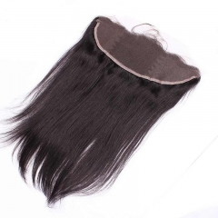 Ear To Ear Lace Frontal Closure Hairstyles 13x4inchs Silk Straight Brazalian Remy Hair Natural Color