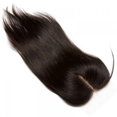 Silk Straight Brazilian Virgin Hair Silk Base Closure For Sale Invisible Part Closure Natural Color 4x4inches
