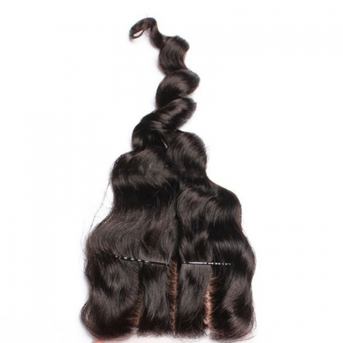 Natural Color Loose Wave Brazalian Remy Hair Silk Base Top Closure Piece With Scalp 4x4inchs