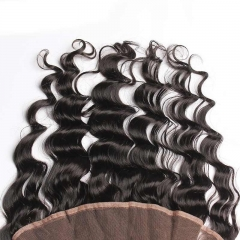 Ear To Ear Lace Frontal Closure Loose Wave Hairstyles Brazalian Virgin Hair 13x4inchs Natural Color For Sale