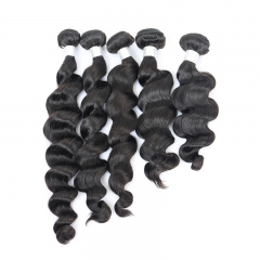 Brazilian Hair Weave Bundles Loose Wave Human Hair Weaving Extensions Honey Products 1 Pc Natural Color Remy Hair
