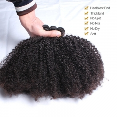 PPwigs Brazilian Kinky Curly Human Hair Weaving Bundles Natural Color 1Pc