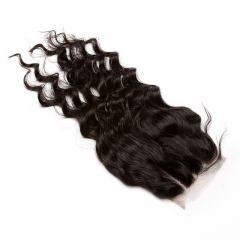 Loose Wave 4x4 Lace Closure With Baby Hair Free Part Brazilian Remy Hair