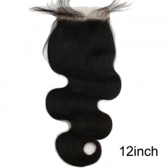 Brazilian Wave Lace Closure Invisible Part with Baby Hair and Bleached Knots 4x4inch