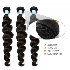 Brazilian Virgin Hair Loose Wave Hair Weave Bundles Honey Products Human Hair Weaving Extensions Natural Color