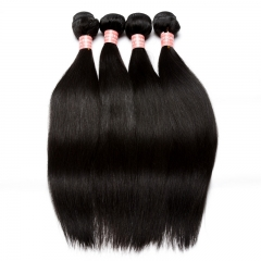 Brazilian Virgin Hair Straight Hair Weave Bundles Honey Products Natural Color Human Hair Weaving Extensions