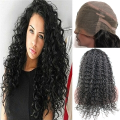 360 Lace Frontal Wig Pre Plucked Deep Curly 360 Full Lace Human Hair Wigs Extra High Density 360 Lace Wig with Baby Hair for Black Women Natural Color