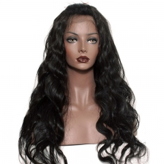 300% Density Lace Front Human Hair Wigs Body Wave Brazilian Virgin Remy Human Hair Glueless Front Lace Wig Human Hair for Black Women Natural Color