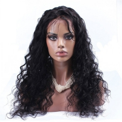 300% High Density Lace Front Human Hair Wig Loose Wave Brazilian Virgin Remy Human Hair Lace Wig Glueless Lace Front Wigs for Black Women NaturalColor