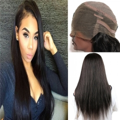 360 Lace Wig Silk Straight Brazilian Virgin Remy Human Hair 360 Full Lace Wigs with Baby Hair and Natural Hairline for Black Women Natural Color (12 i