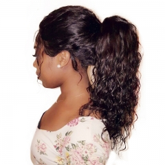 Loose Wave 360 Lace Frontal Wigs For Black Women Pre Plucked Brazilian Human Remy Hair Bleached Knots 10-24 Inch