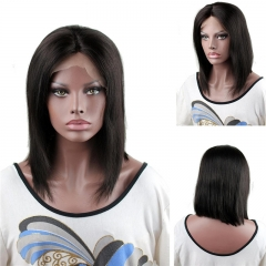Short Bob Wigs Real Human Hair Brazilian Remy Hair Straight Middle Part Wig