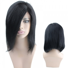 Side Part Bob Wigs Human Hair Cheap Lace Wigs Bleached Knots and Baby Hair Around 130% Density