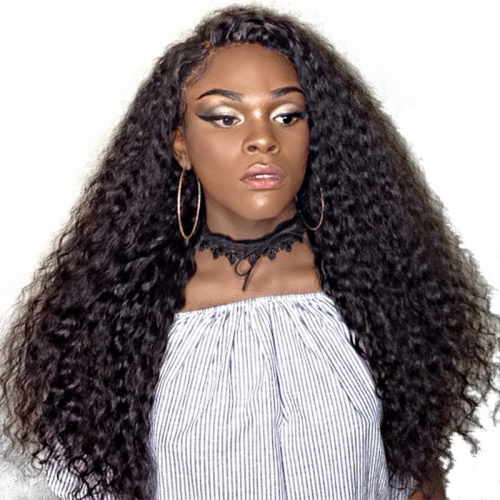Full Lace Human Hair Wigs For Black Women 130% Density Pre Plucked Brazilian Curly Remy Hair