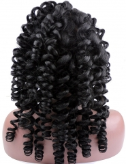 Spring Curly Brazilian Hair Wigs for Women Real Natural Hair Wigs 8-24