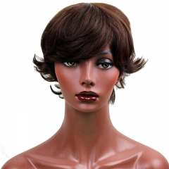 Remy Indian Hair Short Real Hair Wigs Cheap Human hair Wigs for Women