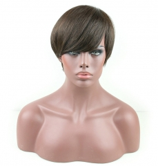 100% Pure Virgin Remy Human Hair Bob Short Wigs Can be Washed and Curled for Women
