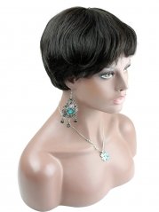 Human Wigs Short 100% Natural Hair Wigs for Women