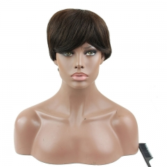 Brazilian Remy Natural Human Hair Unprocessed Glussless Short Wigs