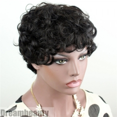 100% Brazilian Hair Full Wigs Short Curly Wigs Cheap Low Price Wig