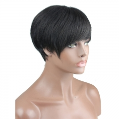Short Wigs for Women Real Human Hair Cheap Full Wigs Short Hair