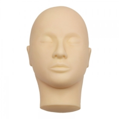 Mannequin Face Head for Practicing Eyelash Extensions Applying False Lash Strip Face Painting (1 pc Mannequin Head)