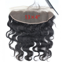 13x4 Full Lace Frontal Closure Body Wave Free Part Ear to Ear Brazilian Virgin Human Hair Extensions Frontal Lace Closure with Baby Hair Bleached Knot